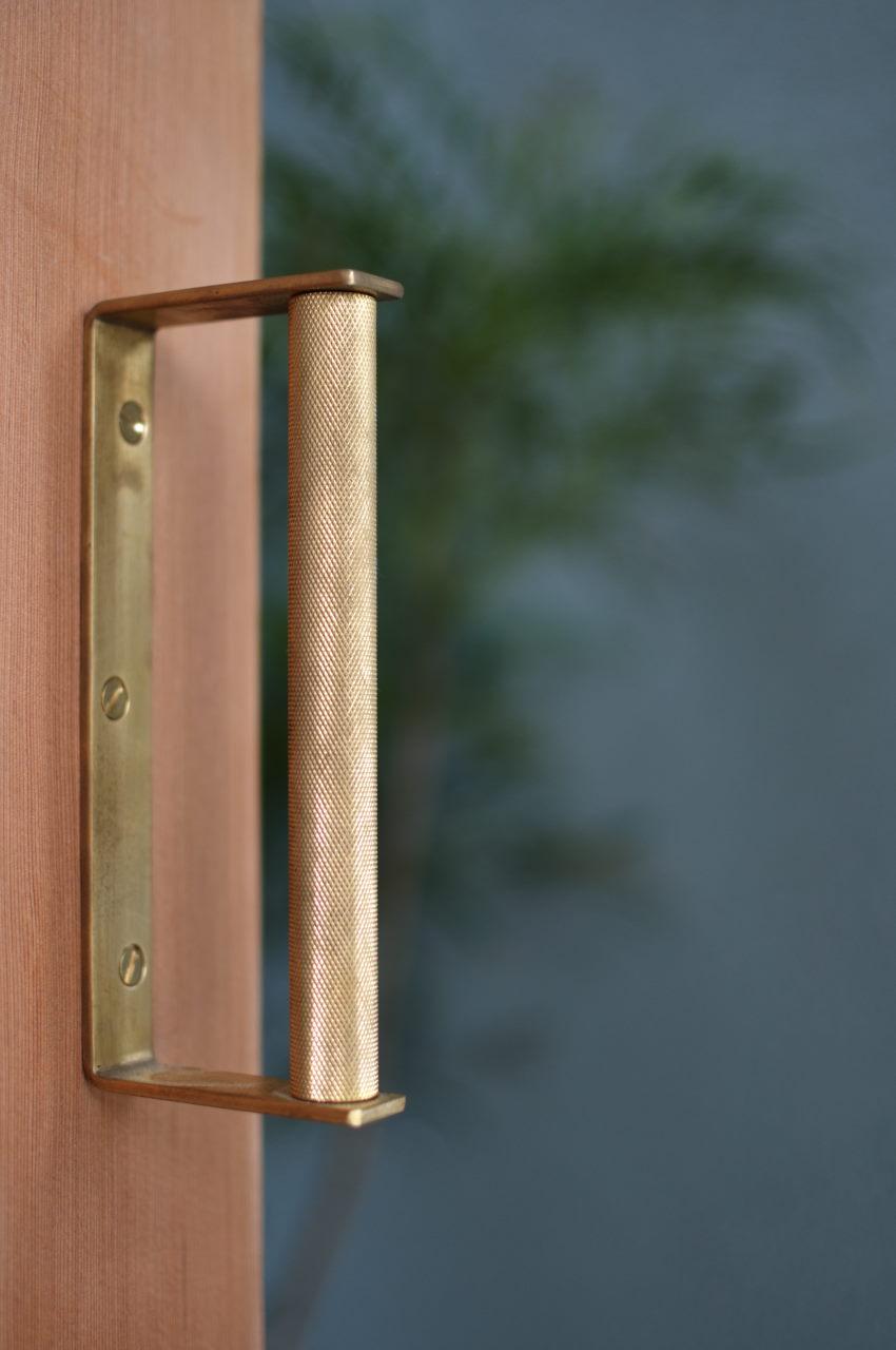 オーダー真鍮ドアハンドル