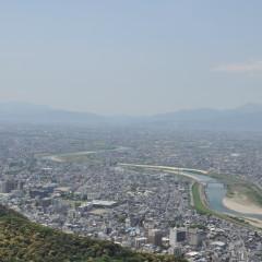 金華山展望台からの眺め