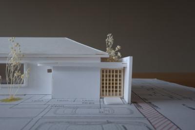 和モダンの平屋 模型